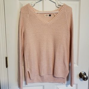 Light pink sparkly sweater